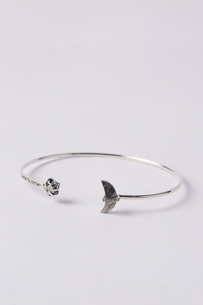 Chan Luu Sterling Silver Bangle with Diamonds