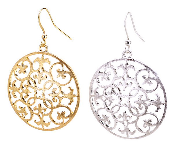 Baroque Filigree Design Earrings - Girl Intuitive