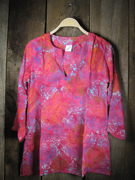 Batik Tunics Lush in Pink - Girl Intuitive