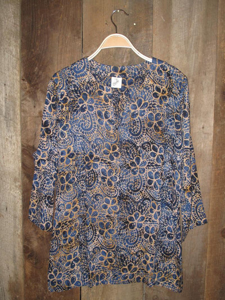 Batik Tunics Navy - Girl Intuitive