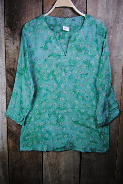 Batik Tunics in Green - Girl Intuitive