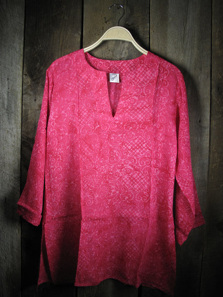 Batik Tunic in Red Sea