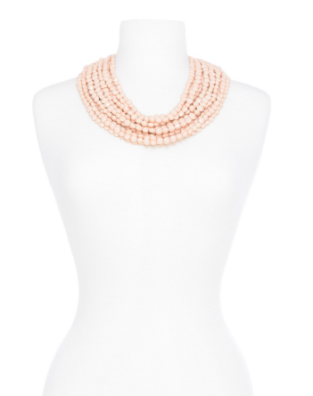 Beaded Bib Necklace in Assorted Colors - Girl Intuitive