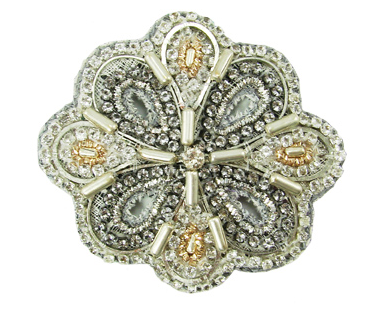 Beaded Blossom Hair Clip - Girl Intuitive