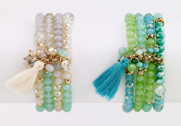 Beaded Bracelet with Tassel - Girl Intuitive