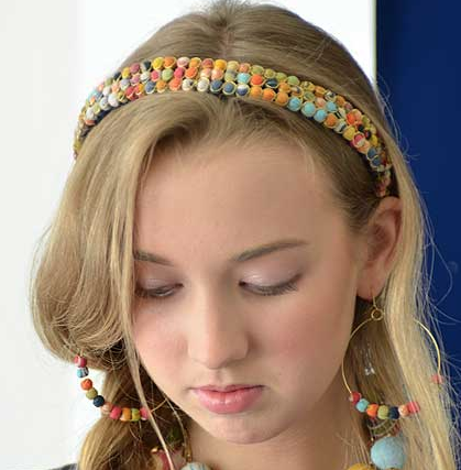 Beaded Kantha Headband - Girl Intuitive