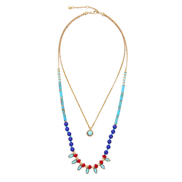 Beaded Layered Boho Necklace - Girl Intuitive