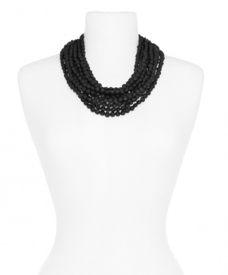 Beaded Matte Bib Necklace - Girl Intuitive