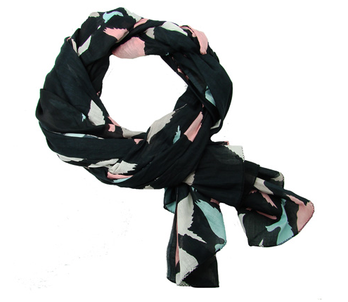 Birds of a Feather Scarf - Black - Girl Intuitive