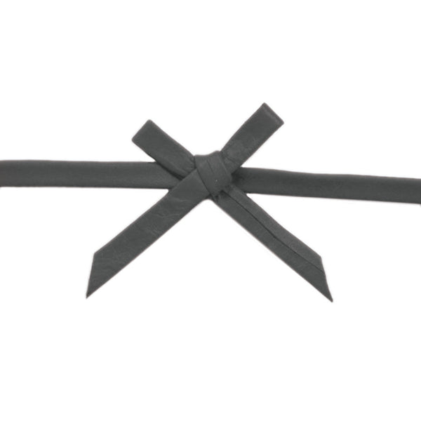 Black Leather Bow Choker - Girl Intuitive