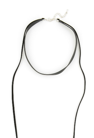 Black Leather Wrap Choker Necklace - Girl Intuitive