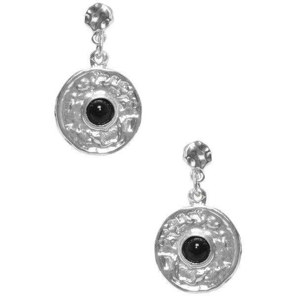 Black Pearl Coin Dangle Earrings - Girl Intuitive