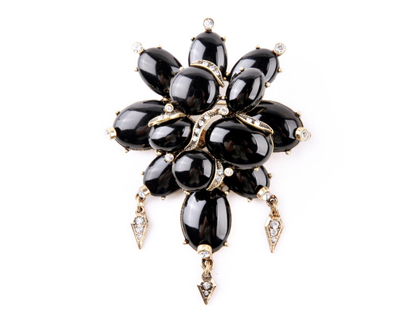 Black Gem Brooch - Girl Intuitive