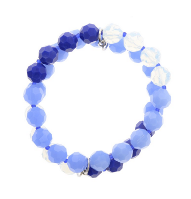 Blue Hues Beaded Stretch Bracelet - Girl Intuitive