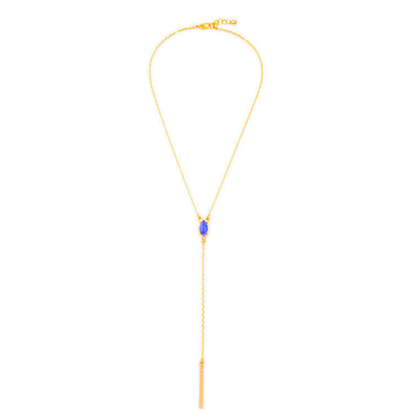 Blue Y-Necklace - Girl Intuitive