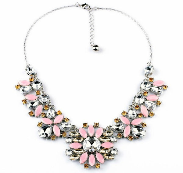 Blush Petals Statement Necklace - Girl Intuitive