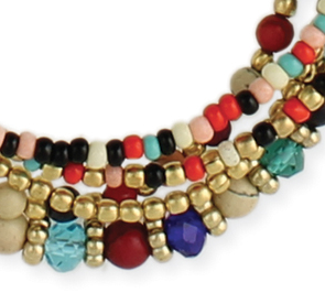 Bohemian Multi Beaded Necklace - Girl Intuitive