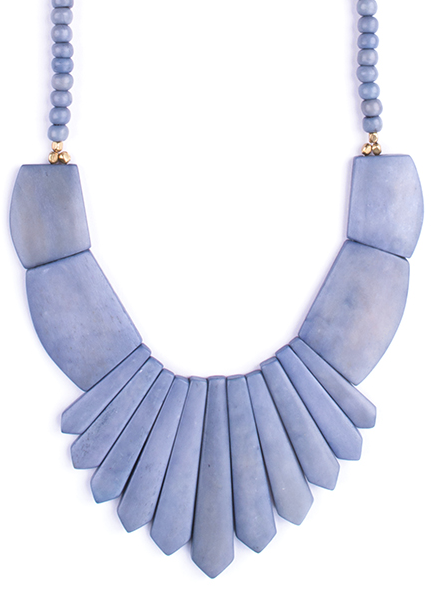 Bombay Bib Necklace Grey - Girl Intuitive