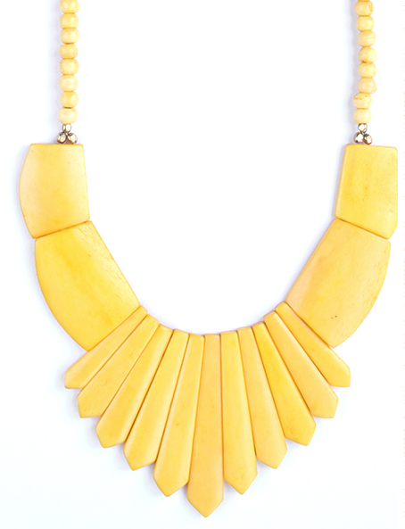Bombay Bib Necklace Yellow - Girl Intuitive