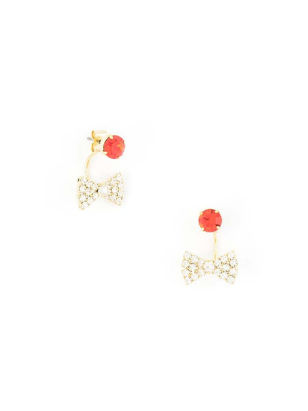 Bow-Tie Affair Earrings red