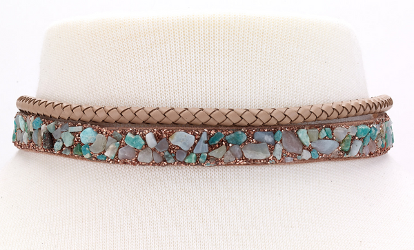 Braided Choker with Stones