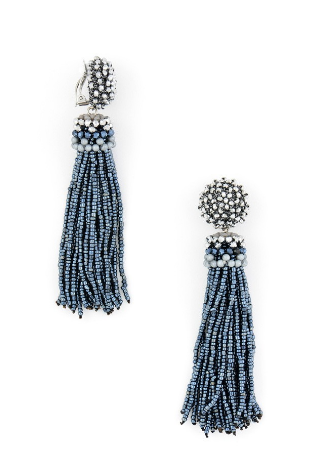 Breakaway Tassel Earrings blue