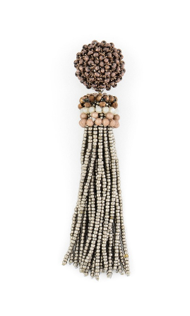 Breakaway Tassel Earrings brown