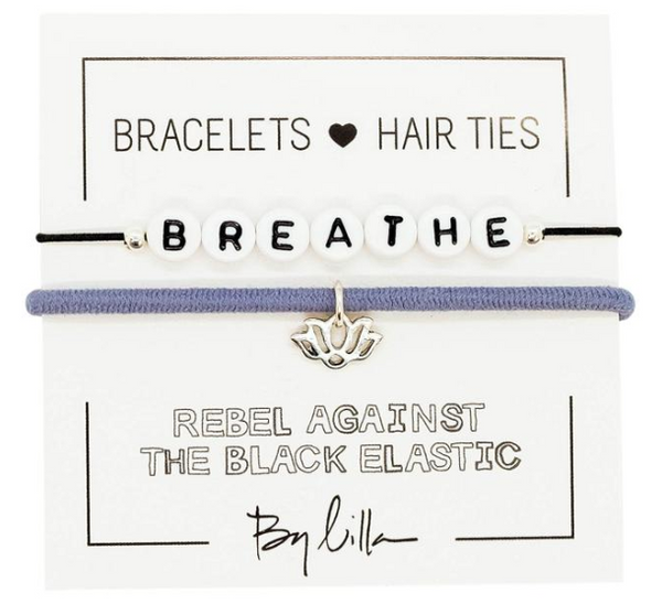 Breathe Elastic Hair Tie and Bracelet By Lilla