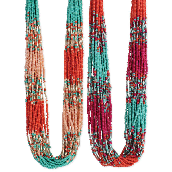 Bright Beaded Multi Line Necklace - Girl Intuitive