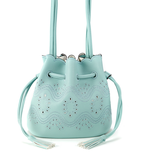 Bags - Bucket Crossbody Bag Turquoise - Girl Intuitive - Christian Livingston -