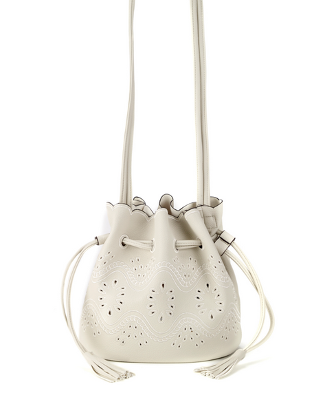 Bucket Crossbody Bag White - Girl Intuitive