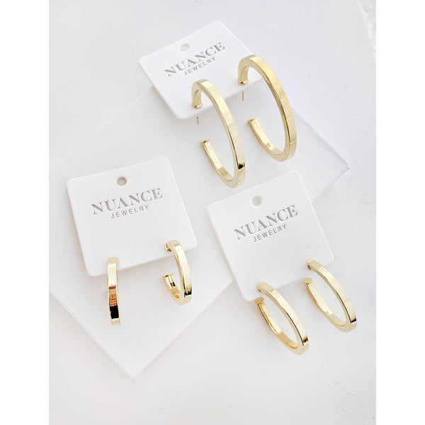 Gold-Filled Callie Hoop Earrings