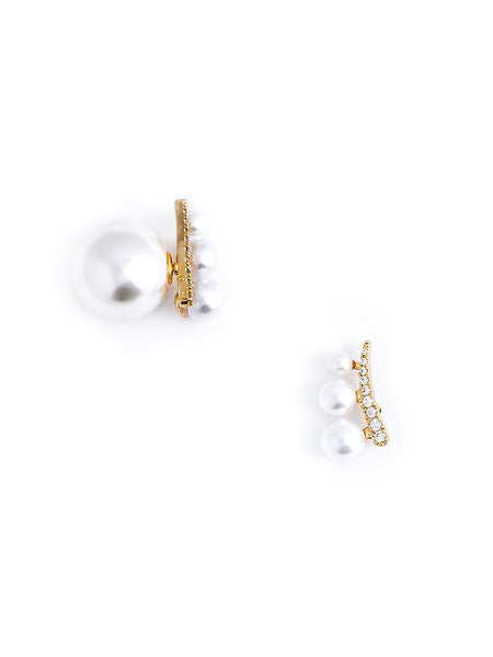 Cascading Pearls Floating Earrings