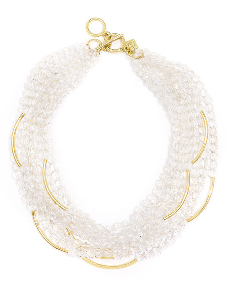 Catch the Wave Beaded Necklace clear