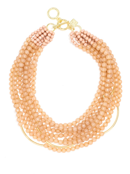 Catch the Wave Beaded Necklace beige