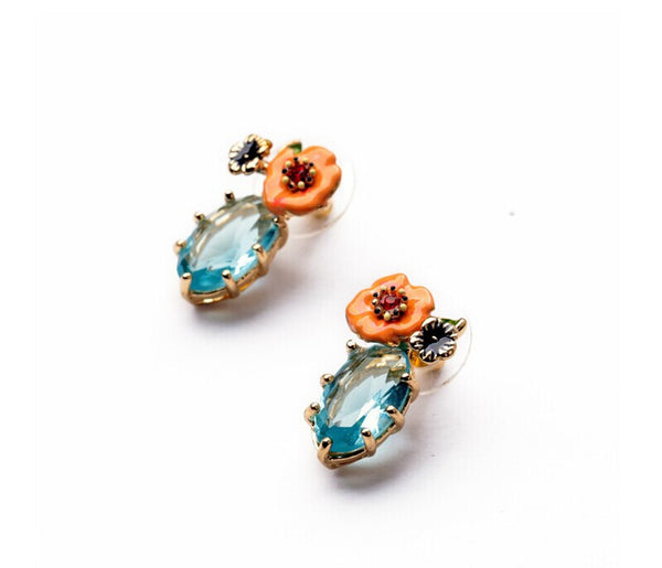 Cayenne Flower Stud Earrings side