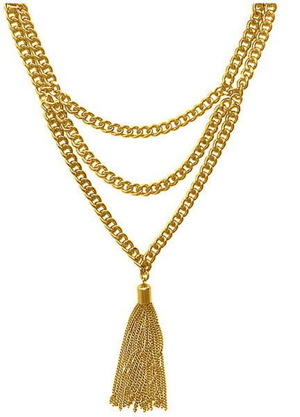Chain Tassel Layered Necklace