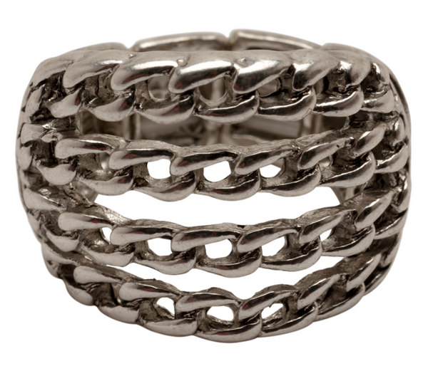 Chains Stretch Ring silver