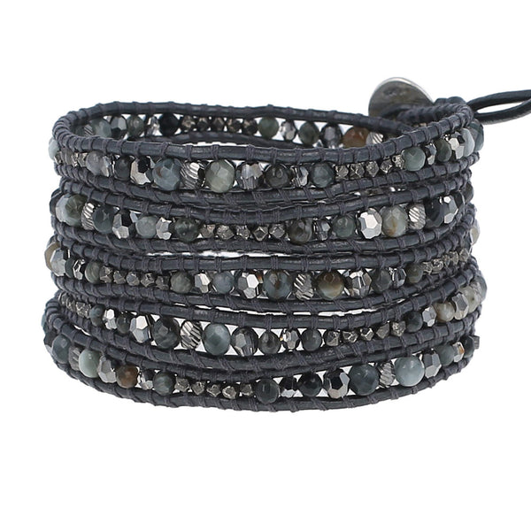 Chan Luu Cat's Eye Mix Wrap Bracelet