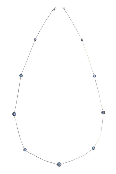 Chan Luu Floating Pearl Layering Necklace peacock