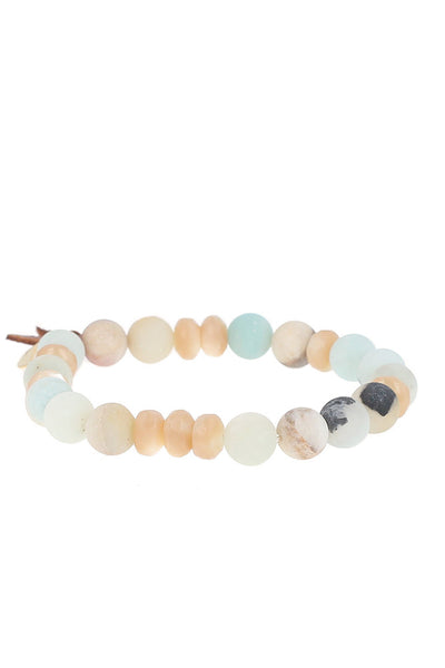 Chan Luu Multi Amazonite Mix Stretch Bracelet