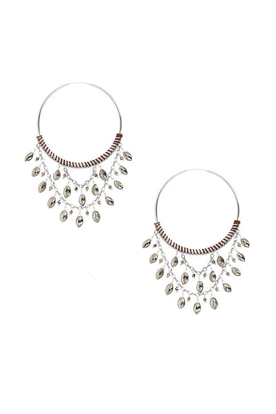 Chan Luu Pyrite Statement Hoop Earrings