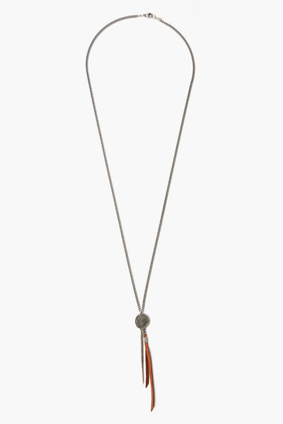 Chan Luu Saddle Charm And Leather Tassel Necklace