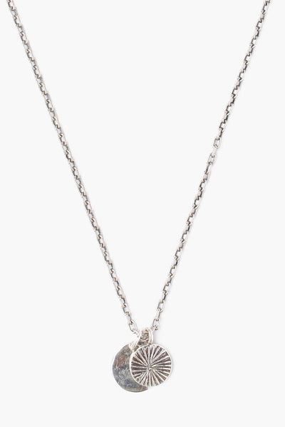 Chan Luu Silver Coin Charm Mens Necklace
