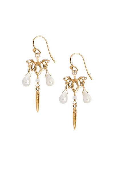 Chan Luu Silverite Lotus Earrings