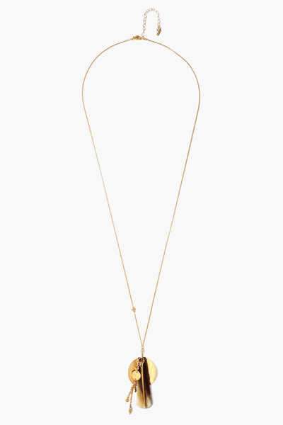 Chan Luu Black Mix Totem Long Necklace