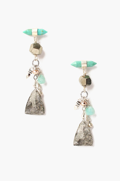 Chan Luu Turquoise Mix Stone Drop Earrings