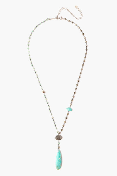Chan Luu Turquoise Mix Stones Long Necklace