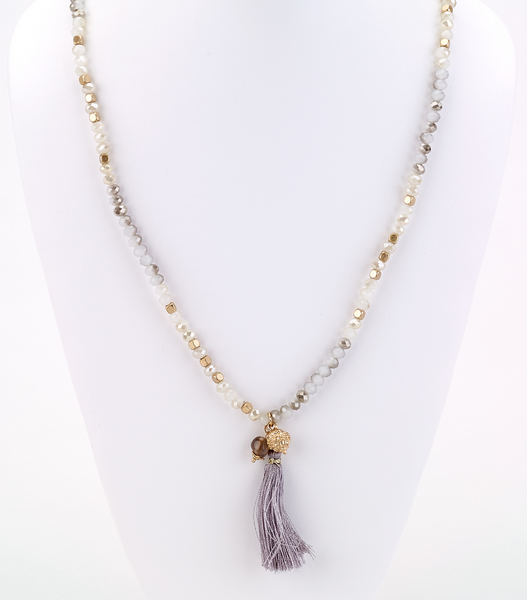Charm Necklace with Tassel