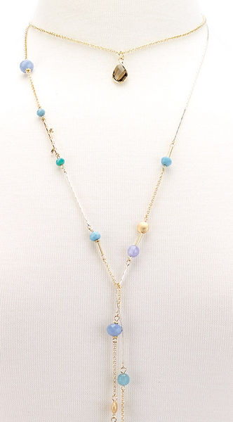 Choker Drop Pendant Beaded Lariat